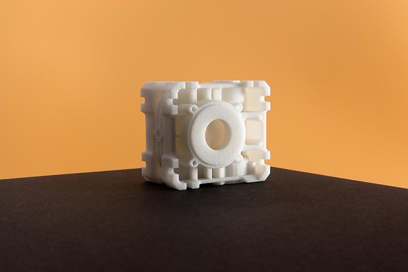 3D Printed SLS Nylon PA12 Close Up